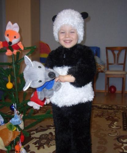 Костюм мишка панда