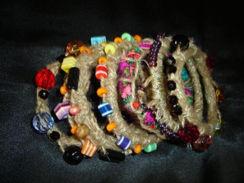 браслеты в этническом стиле - 7 шт
