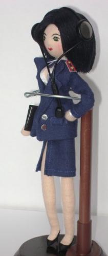 Кукла - майор, девушка, полиция