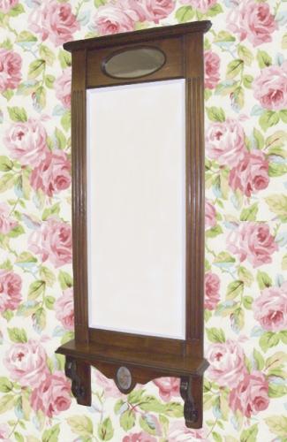 Зеркало с консолью ручной работы из натурального дерева, стилизованное под старину