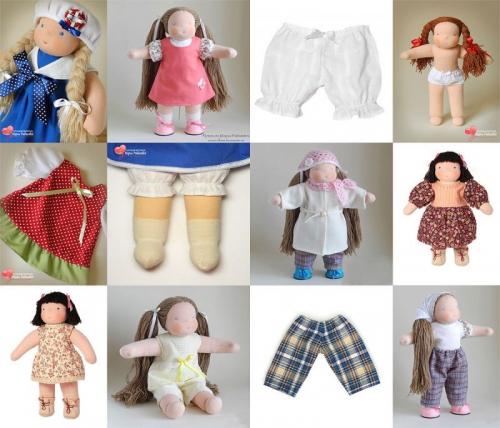 Набор выкроек одежды для кукол