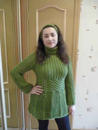 Мини платье/туника вязаное
