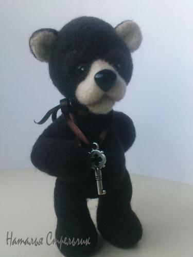 Войлочный медвежонок Валентин