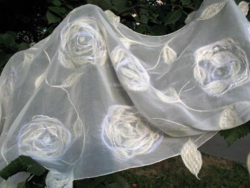 Свадебный шелковый палантин