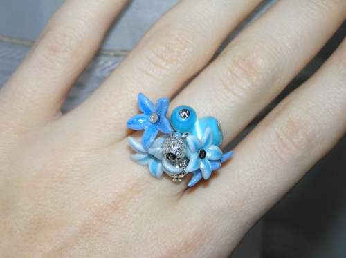 """Кольцо """"Голубое"""""""