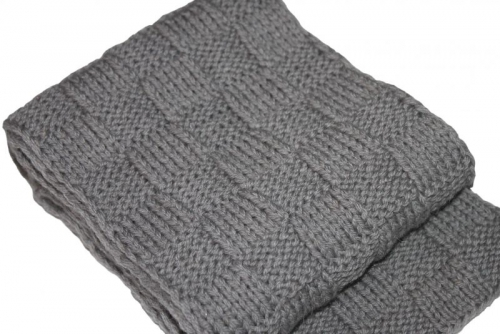 Как связать мужской шарфик спицами