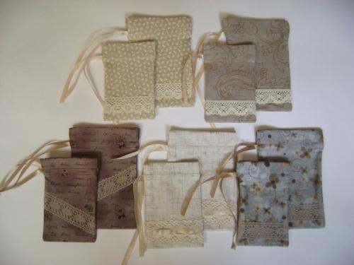 Мешочки для украшений из натуральных материалов (на заказ)