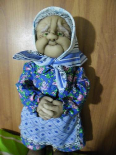 """Каркасная текстильная кукла """"Баба Феня"""""""