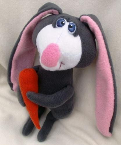 Флисовый  кролик  Марк Морковкин