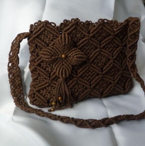 """Плетеная женская сумка """"Плитка шоколада"""""""