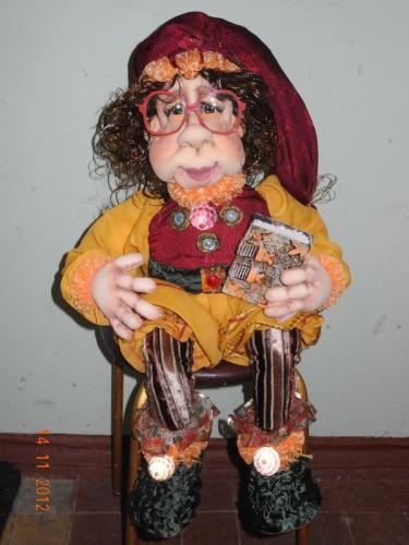 Текстильная кукла ручная работа в единственном экземпляре