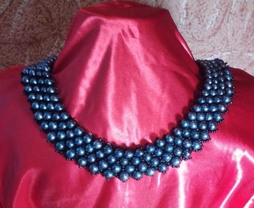 ожерелье,,Черный жемчуг,,