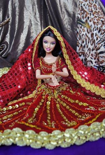 Платье для Барби Лакме, кукла в восточном стиле