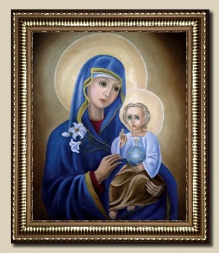 Копия с иконы Божией Матери «Неувядаемый Цвет»