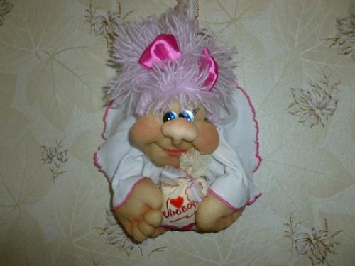 "интерьерная кукла на удачу ""попик"""
