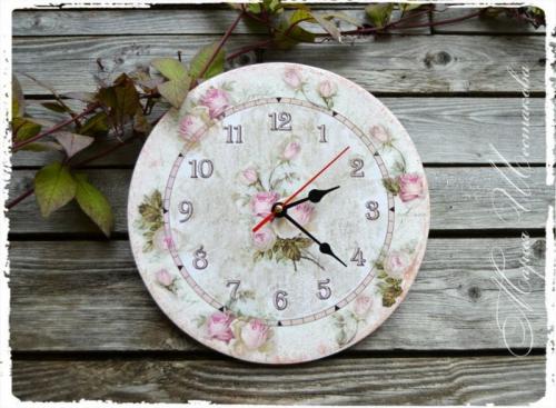 """Часы ручной работы """"Розовый букет"""". Shebbi-shik"""