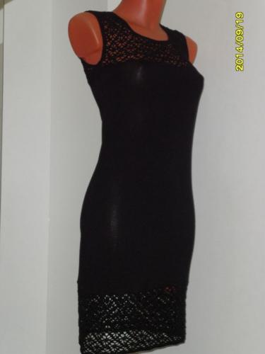 Платье маленькое черное комбинированное
