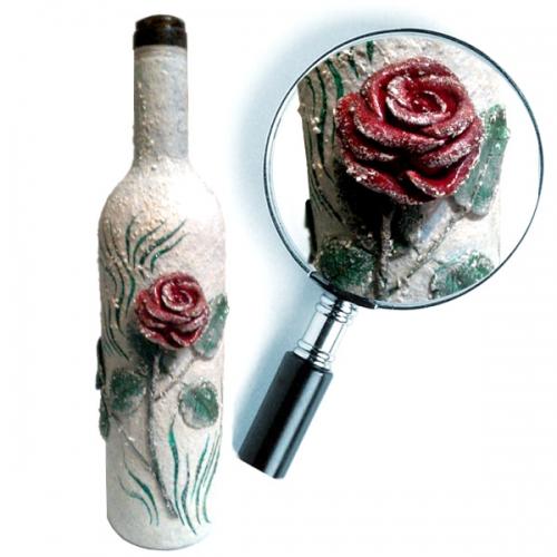 Бутылка Снежная Роза