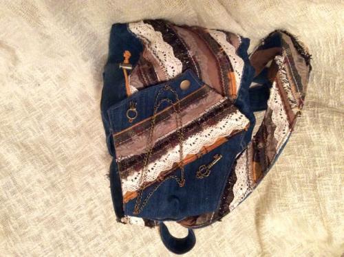 Рюкзачок из джинсы Романтичный