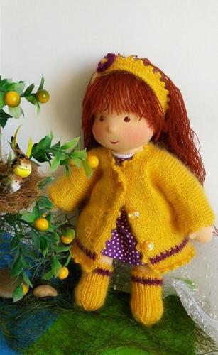 Наташка с леденцом - кукла вальдорфская 34 см (НА ЗАКАЗ)