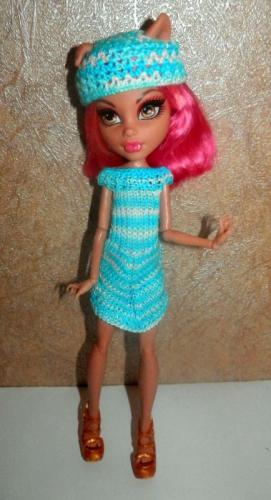 Платье на куколку Monster High