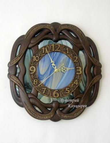 дизайнерские настенные часы синие