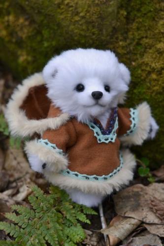 Белая мишка тедди Эскимоска