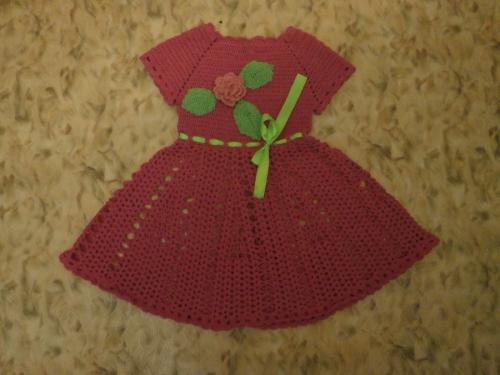 Платье Малиновый цвет