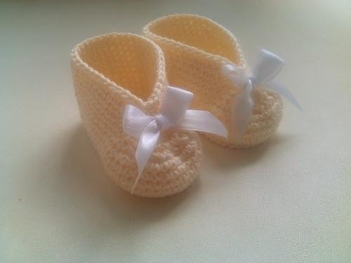 Пинетки для новорожденной