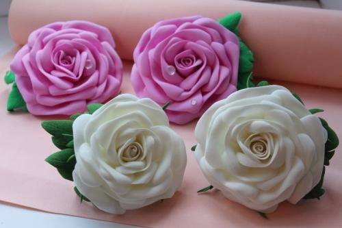 Крупные розы из фоамирана