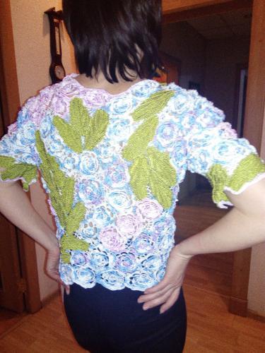 блуза, выполненная в технике ирландское кружево