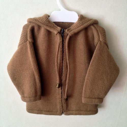 Вязаная детская куртка