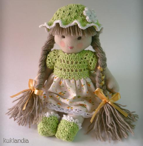 Зеленинка, вальдорфская кукла ручной работы