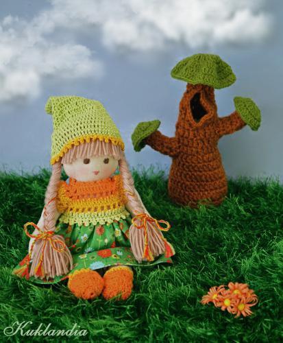 Гномочка, вальдорфская кукла ручной работы