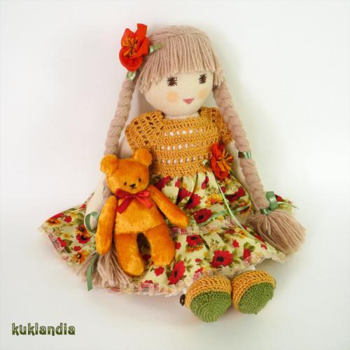 Полли, вальдорфская кукла ручной работы